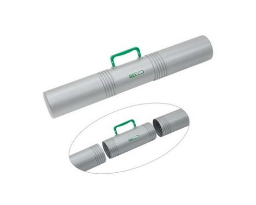 Тубус с ручкой 3-х секционный D100мм L650мм серый