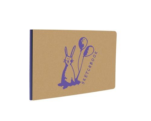Скетчбук А5- 40 листов KRAFT&COLOR. Дизайн 5, бумага 135гр