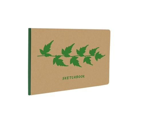 Скетчбук А5- 40 листов KRAFT&COLOR. Дизайн 4, бумага 135гр