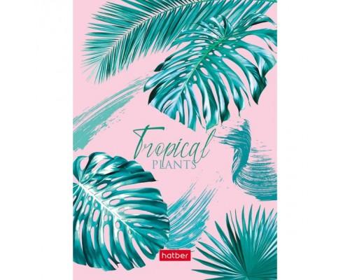 Бизнес-блокнот А6 160 листов (твердая обложка)Тропические листья