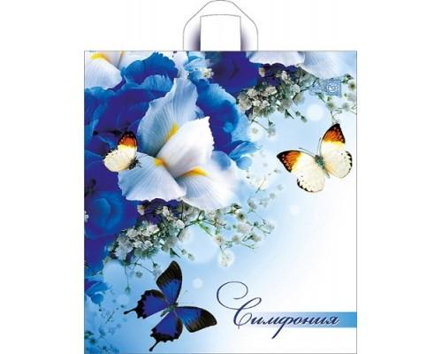 Пакет полиэтиленовый 44*40см.Синяя симфония