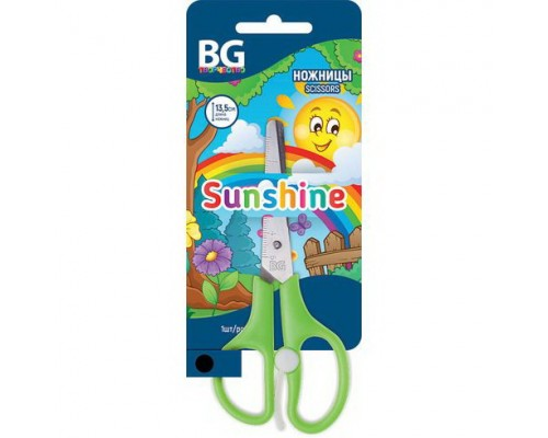 Ножницы 13,5см. Sunshine детские с усилителем, ассорти
