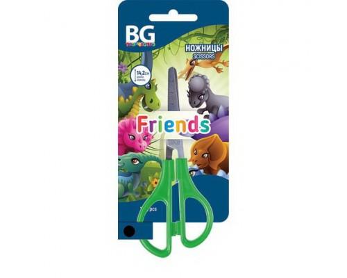 Ножницы 14,2см. Friends детские эргономичные ручки, ассорти