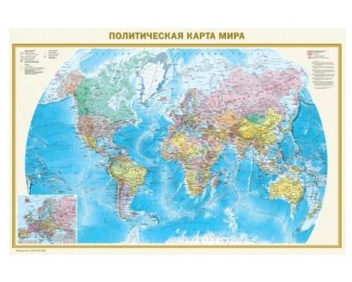 Карта мира Политическая.Федеративное устройство России А0