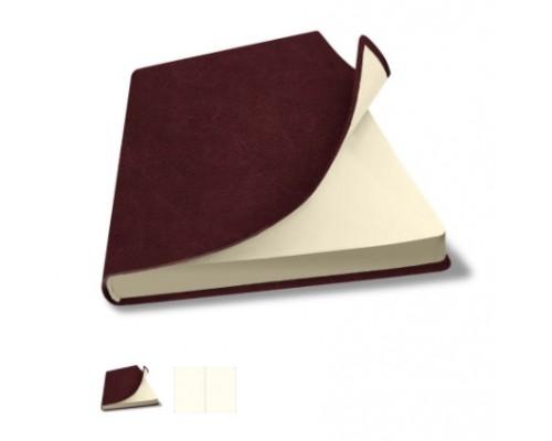 Скетчбук А5 80л.Salut FLEX бордовый кремовый блок