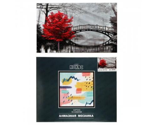 Алмазная мозаика 40*50см КОКОС Red полная выкладка холст на подрамнике 209585