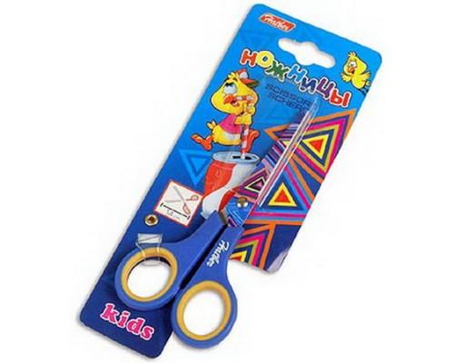 Ножницы 14см. Hatber с рисунком Треугольник (нержавеющая сталь) детские